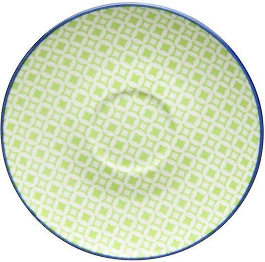 CreaTable Untertasse »Mediterran«, (4 Stück), Ø 15 cm, Steinzeug, Farbe grün