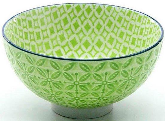 CreaTable Dipschale »Mediterran«, Steinzeug, (Set, 4-tlg), Ø 11,5 cm, Farbe grün
