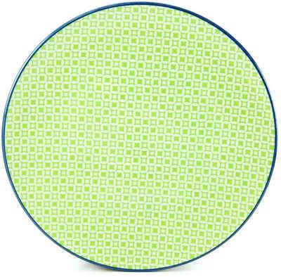 CreaTable Speiseteller »Mediterran«, (4 Stück), Ø 27 cm, Steinzeug, Farbe grün