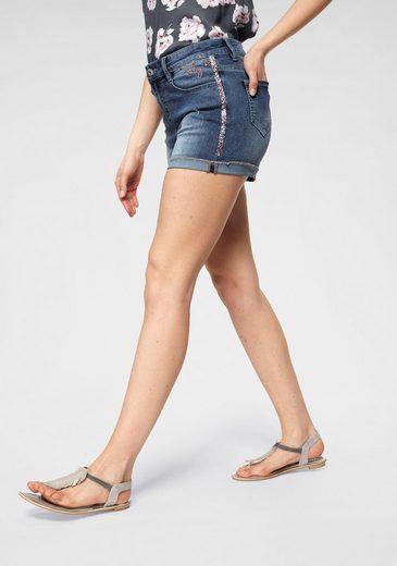 HaILY'S Jeansshorts »BABY« mit Glitzerdetails