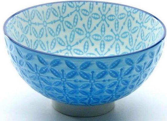 CreaTable Dipschale »Mediterran«, Steinzeug, (Set, 4-tlg), Ø 11,5 cm, Farbe blau