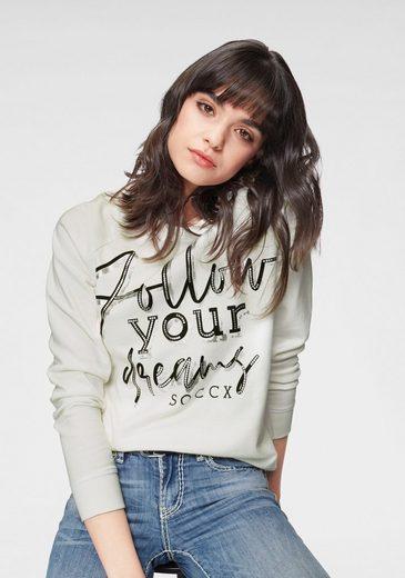 SOCCX Sweater mit coolem Frontdruck