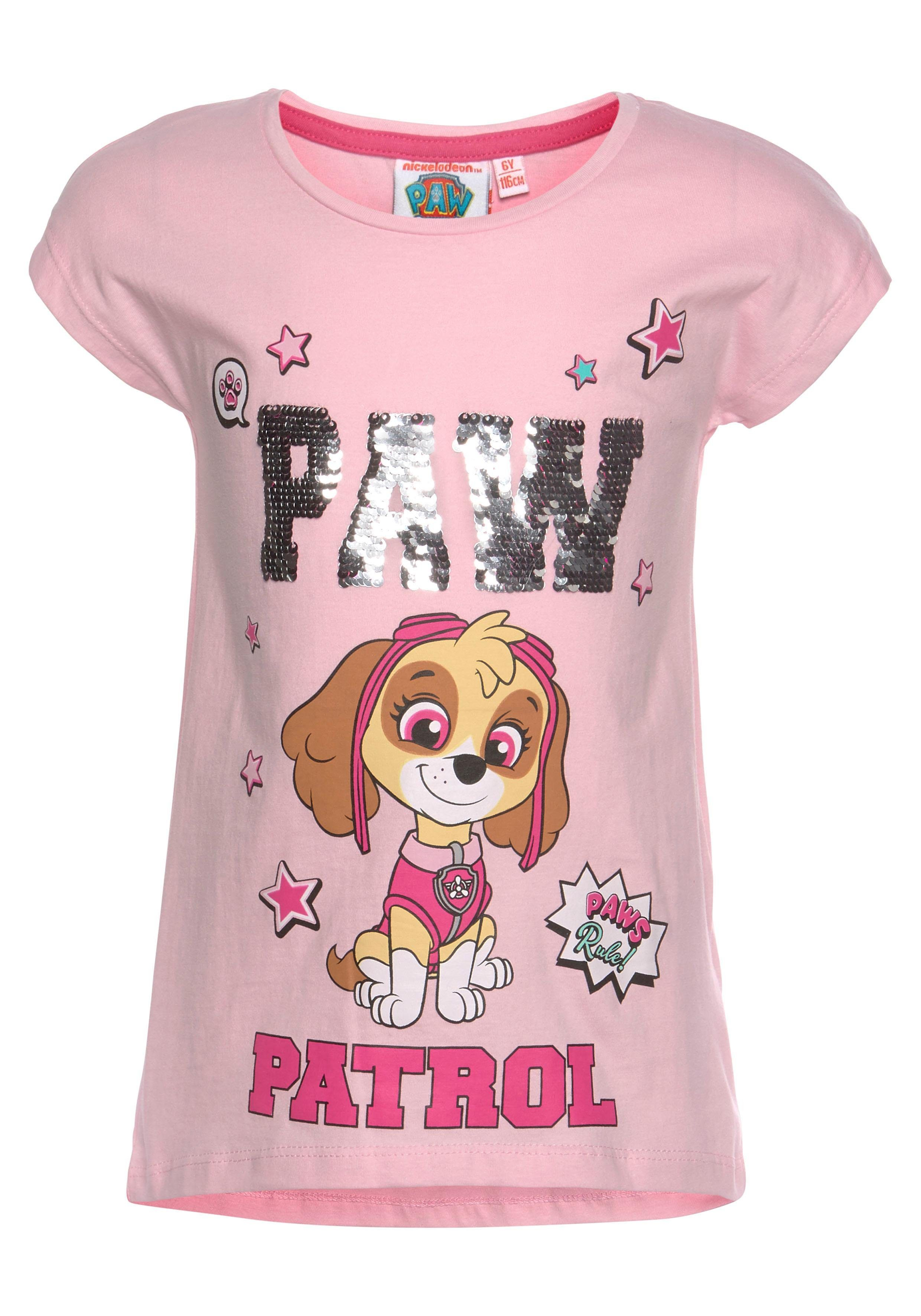 PAW PATROL T-Shirt mit Wendepailletten