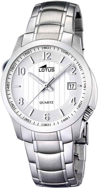 Lotus Multifunktionsuhr »UL15760/2 Lotus Unisex Uhr Elegant L15760/2«, (Analoguhr), Damen, Herren Armbanduhr rund, groß (ca. 40,2mm), Edelstahlarmband silber