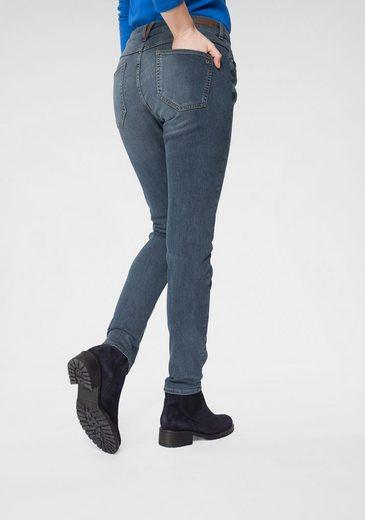 s.Oliver Stretch-Jeans mit schlichter Waschung und Kontrastnähten