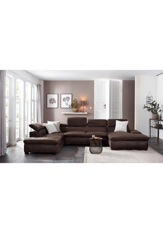 HOME AFFAIRE Sofa »Alberto« XL su Kopfteilverstellu...