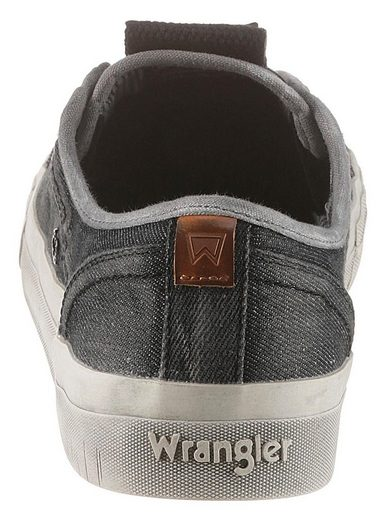 Lässigen »sniper Sneaker Im Denim Slip Look Wrangler on Washed« I4x7nqdqRY