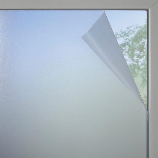 Fensterfolie, GARDINIA, halbtransparent, glatt, Fensterfolie Milchglas-optik