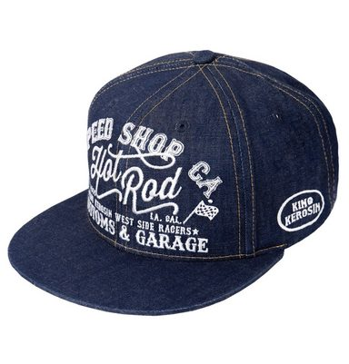 KingKerosin Trucker Cap »Hot Rod« im coolen Denim-Style