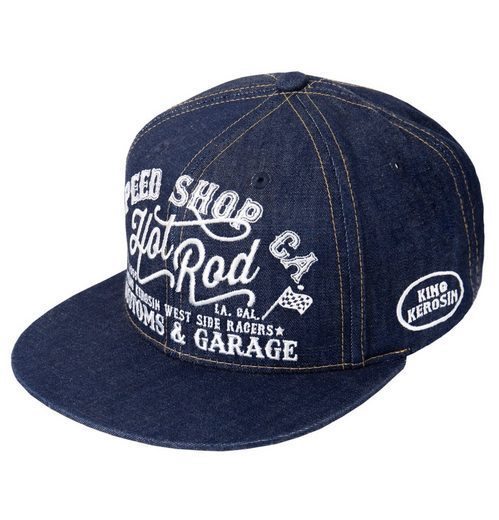 KingKerosin Trucker Кепка »Hot Rod« im coolen Denim-Style