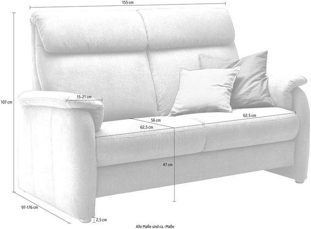 Sofas - DELAVITA 2 Sitzer »Turin«, wahlweise mit motorischer Relaxfunktion, auch in Leder  - Onlineshop OTTO