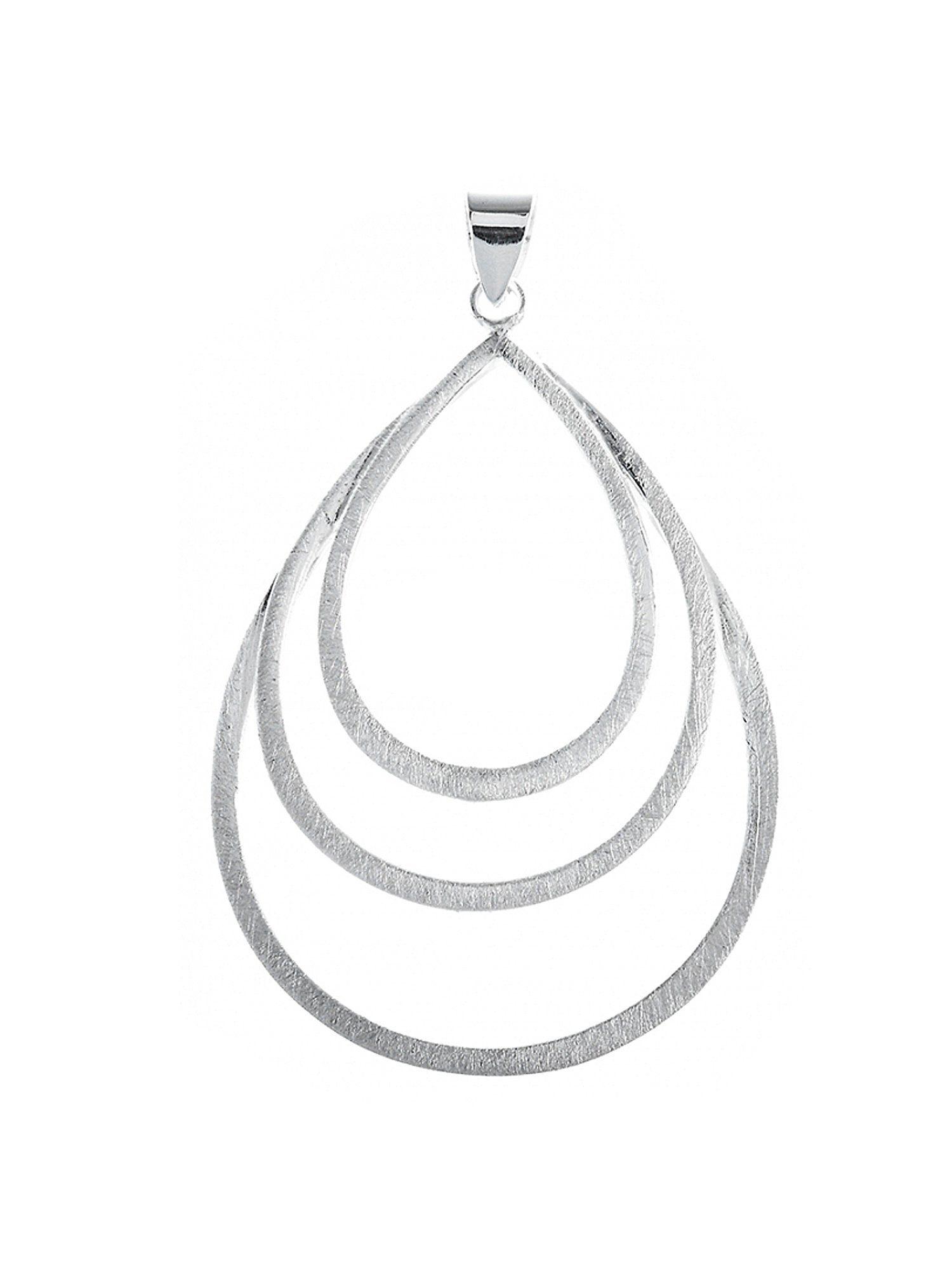 Adelia´s Kettenanhänger »925 Sterling Silber - Anhänger Dreiertropfen« Tropfen 925 Silber gebürstet