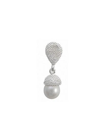 Adelia´s Kettenanhänger »925 Sterling Silber - Anhänger Perle Nusseiche«, 925 Silber poliert