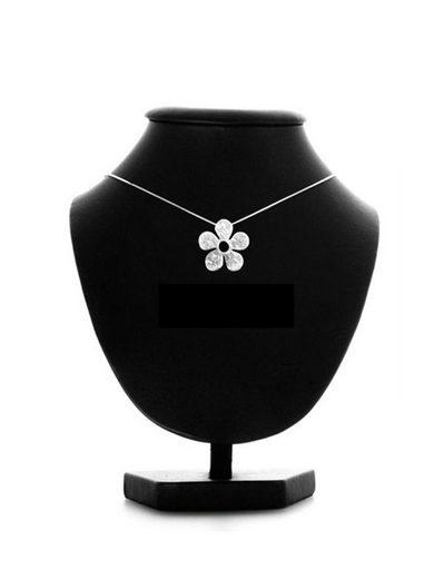 Adelia´s Kettenanhänger »925 Sterling Silber - Anhänger Blume« 925 Blume Silber gebürstet