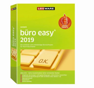 LEXWARE Lexware büro easy Start 2019 Jahresversion »Einfache Belegerfassung inkl. Standardbelege«