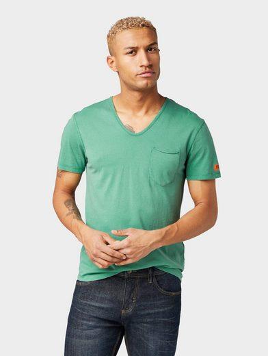 TOM TAILOR Denim T-Shirt »T-Shirt mit V-Ausschnitt«
