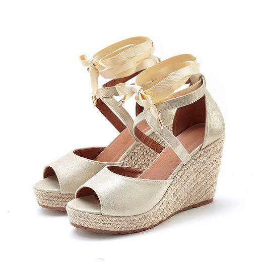 LASCANA Sandalette mit Keilabsatz im Espadrille-Look