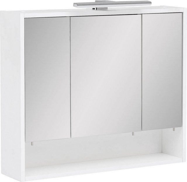 Spiegel - Schildmeyer Spiegelschrank »Kimi« Breite 70 cm, 3 türig, LED Beleuchtung, Schalter Steckdosenbox, Glaseinlegeböden, Soft Close, Made in Germany  - Onlineshop OTTO