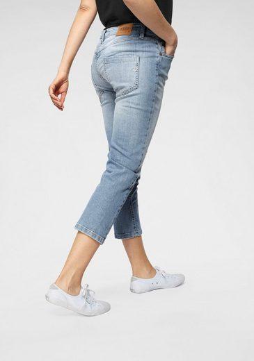 Please Jeans 7/8-Jeans »P36« stylische 7/8 Jeans in Used-Waschung und sichtbarer Knopfleiste