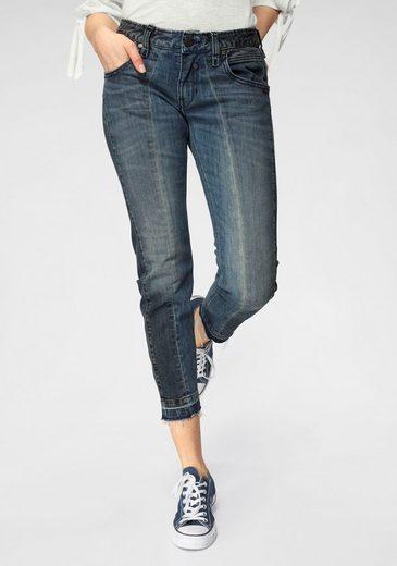 Herrlicher 7/8-Jeans »TOUCH CROPPED« mit ausgefransten Säumen