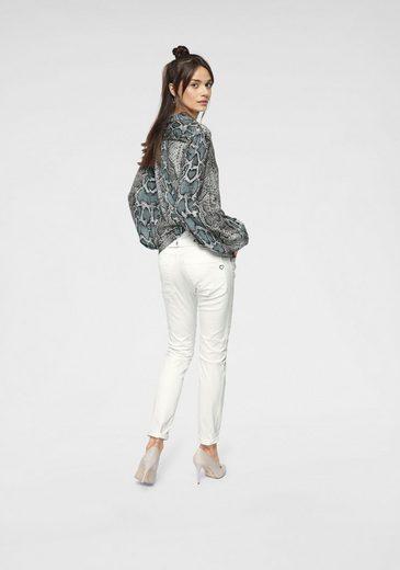 Jeans Schlangenmuster Bluse Please Mit Klassische dIqIwF