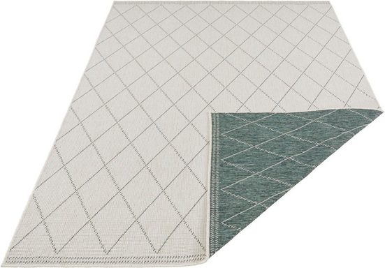 Teppich »Daisy«, freundin Home Collection, rechteckig, Höhe 5 mm, In- und Outdoor geeignet, Wendeteppich