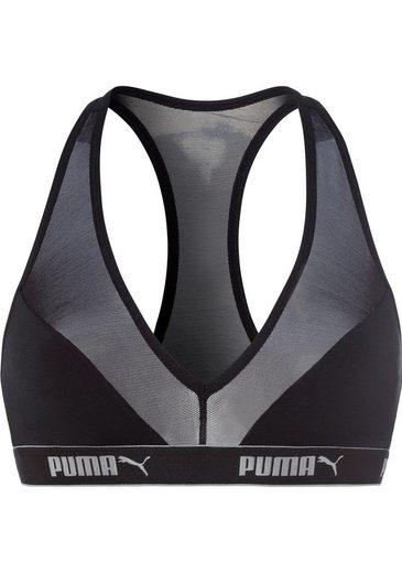 Schwarz einsätzen silber Puma Bustier1 Mesh tlgMit 0wPy8NnmOv