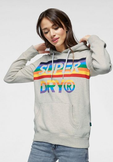 Superdry Kapuzensweatshirt »SPORT RAINBOW ENTRY HOOD« im Rainbow-Design