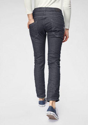 Please Jeans Boyfriend-Jeans »P78A« Crinkle Jeans mit auffallender Knopfleiste und krempelbaren Bein