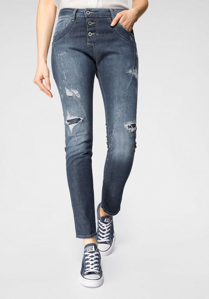 Please Jeans Destroyed-Jeans »P78A« (1-tlg) | Bekleidung > Jeans > Destroyed Jeans | Blau | Denim | Please Jeans