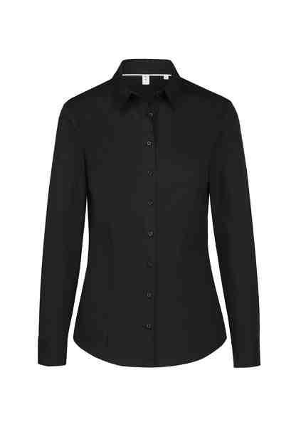 seidensticker Hemdbluse »Schwarze Rose« Langarm Kragen Uni