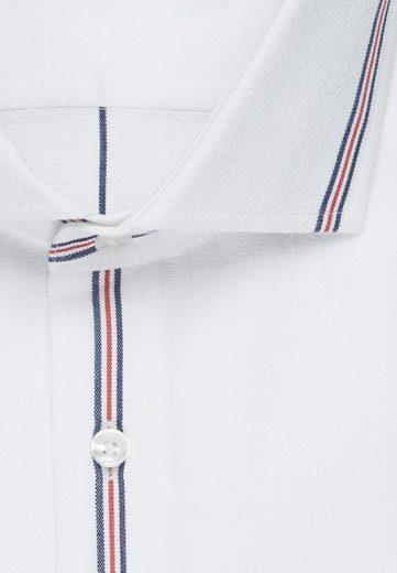 Slim Seidensticker Streifen Rot kragen Langarm Businesshemd Kent »slim« bg7yYf6