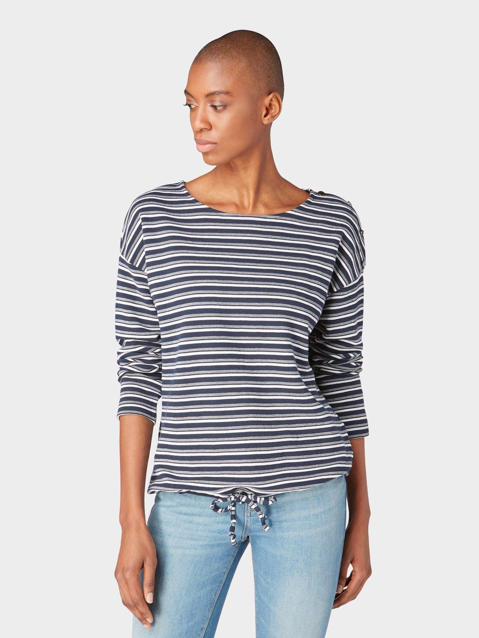 TOM TAILOR Sweatshirt »Sweatshirt mit Streifenstruktur« online kaufen | OTTO