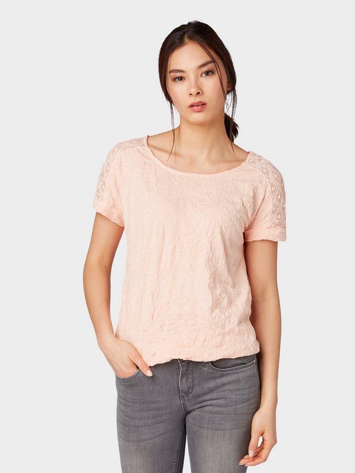 6d49d789f0cbe TOM TAILOR T-Shirt »T-Shirt mit Spitzen-Einsatz« | OTTO