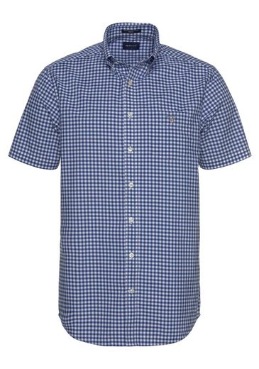 »the Broadcloth Kurzarmhemd Gingham Gant Reg Bd« aOqvS5