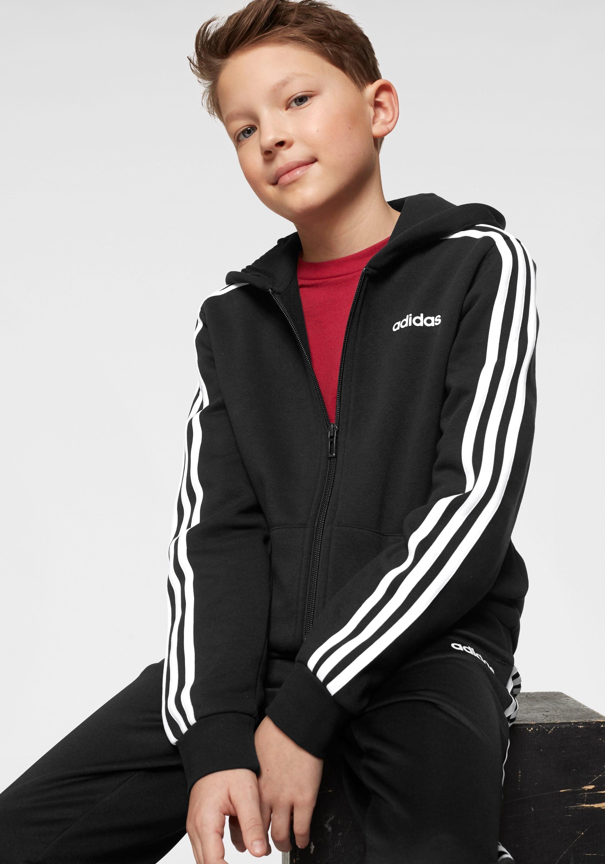 KaufenOtto Boy Stripes Essential 3 »young Hoody« Fullzip Kapuzensweatjacke Online Adidas IYfvbym76g