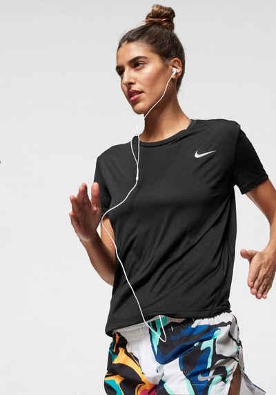 Nike Laufshirt »WOMEN NIKE MILER TOP SHORTSLEEVE«