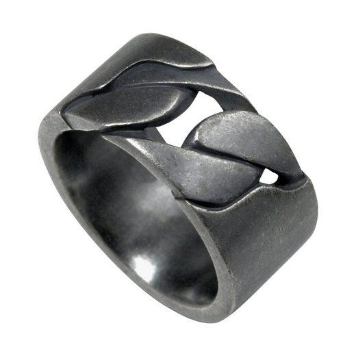 CAÏ Ring »925/- Sterling Silber matt oxidiert schwarz«