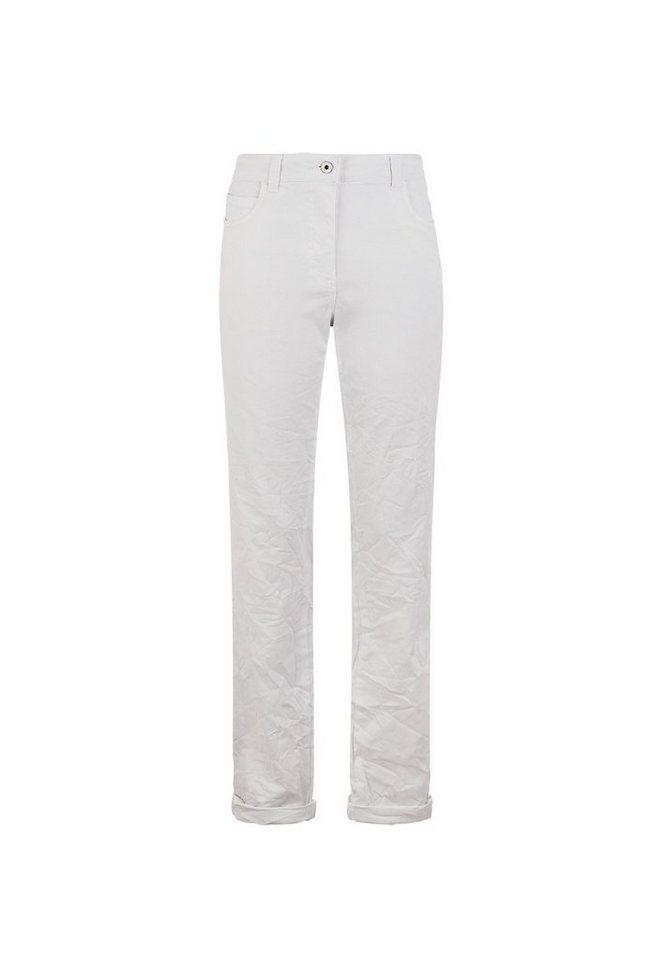 MILLION-X 5-Pocket-Hose »Rita Colour Stripe« | Bekleidung > Hosen > 5-Pocket-Hosen | Weiß | Baumwolle | MILLION-X