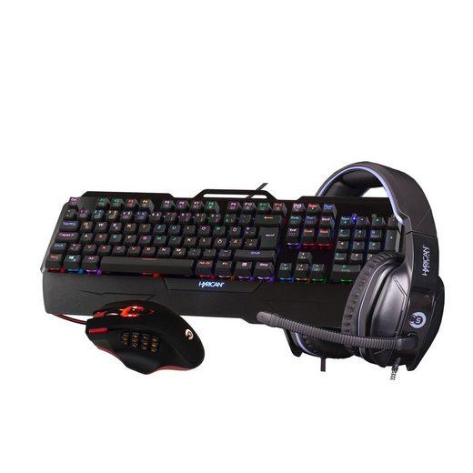 Hyrican Striker Gaming Spar Set RGB Maus, Tastatur+ Headset »ST-MK29/ST-GM975/ G815«