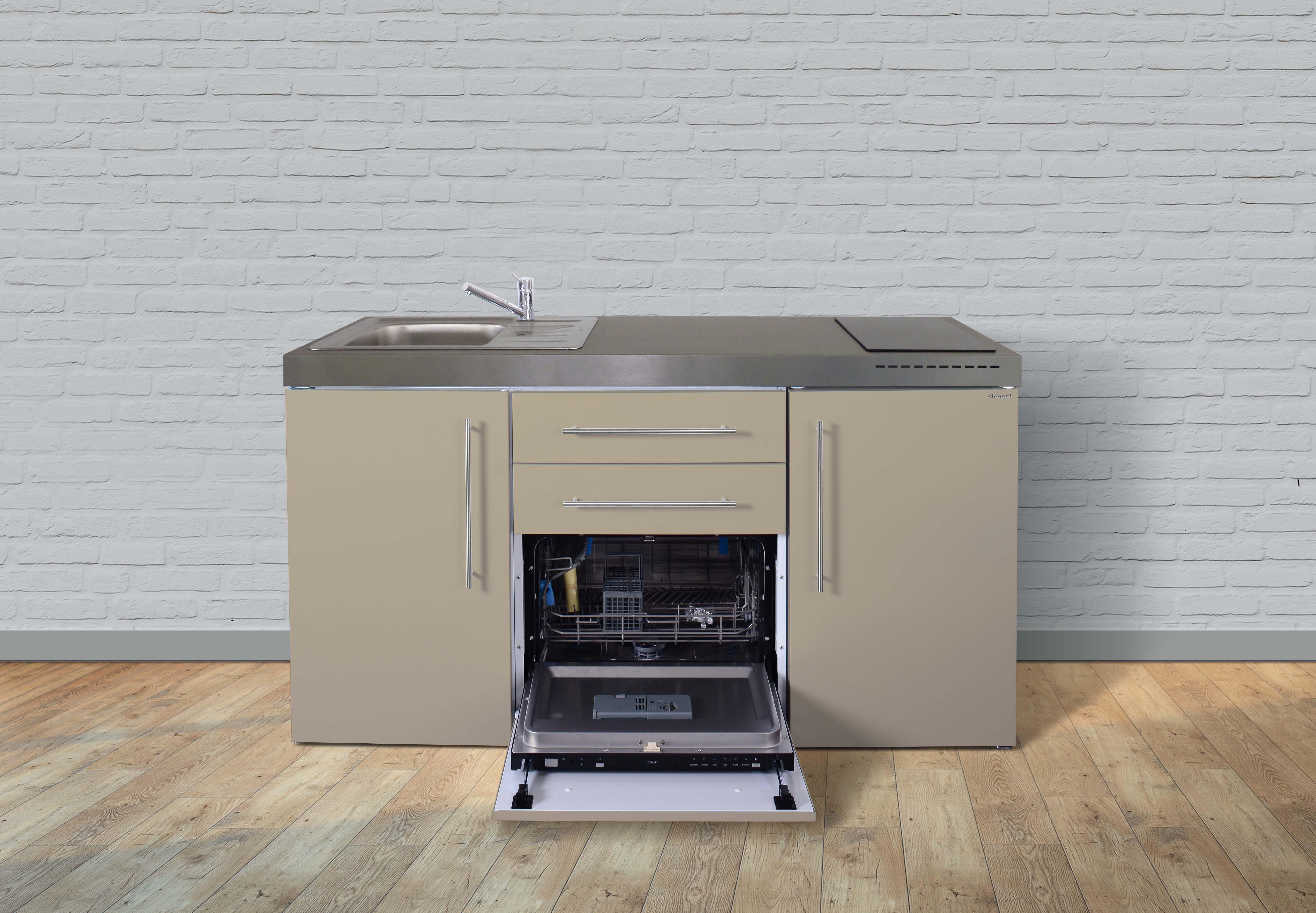 Miniküche Mit Backofen Und Kühlschrank Gebraucht : Stengel metall miniküche premiumline mpgs kühlschrank