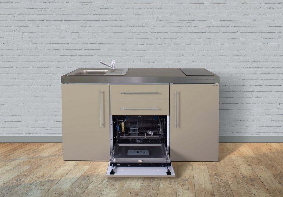 Miniküche 120 Cm Breit Mit Kühlschrank : Stengel metall miniküche premiumline mpgs 160 kühlschrank