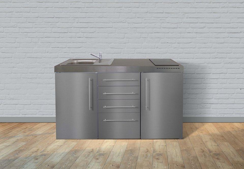 Stengel Metall-Miniküche Premiumline MPS4 150, Kühlschrank, 4 ...
