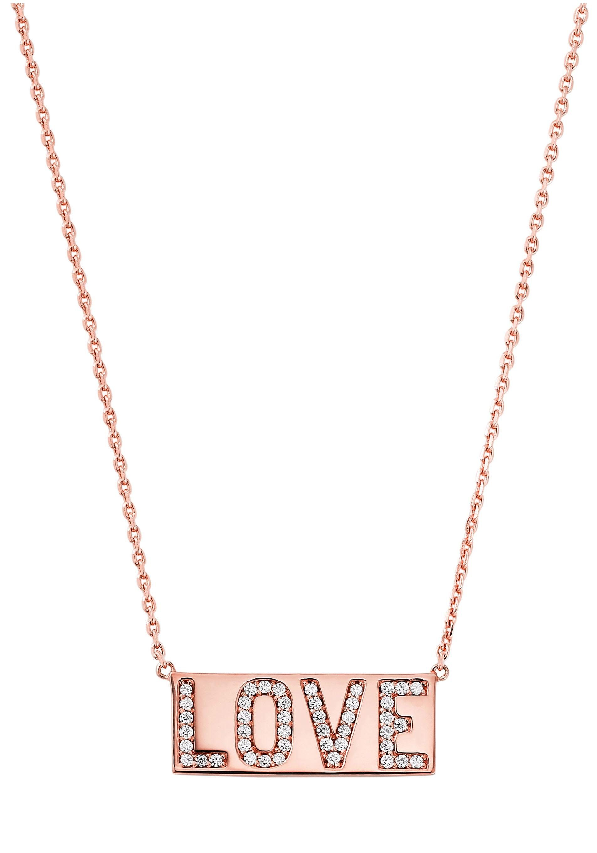 MICHAEL KORS Kette mit Anhänger »PREMIUM, MKC1159AN791, Love«, mit Zirkonia online kaufen | OTTO