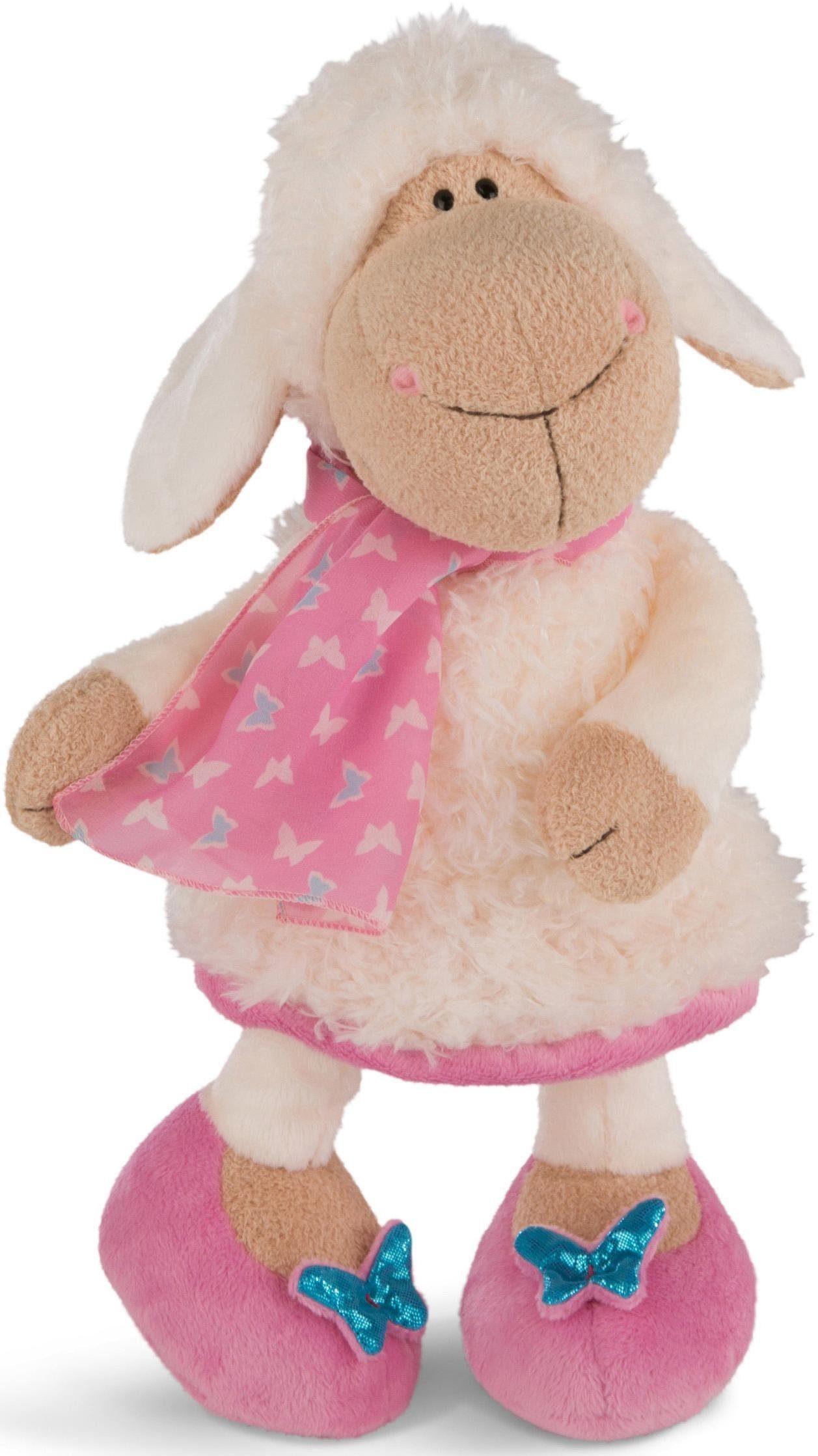 15 cm groß Plüschtier Schlenker Schaf Wolle Nici