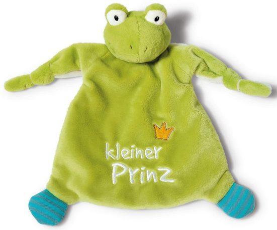 Nici Schmusetuch »My First NICI Kollektion, Froschkönig, Kleiner Prinz«, (1-tlg), mit dreidimensionalen Augen mit aufgestickten Pupillen