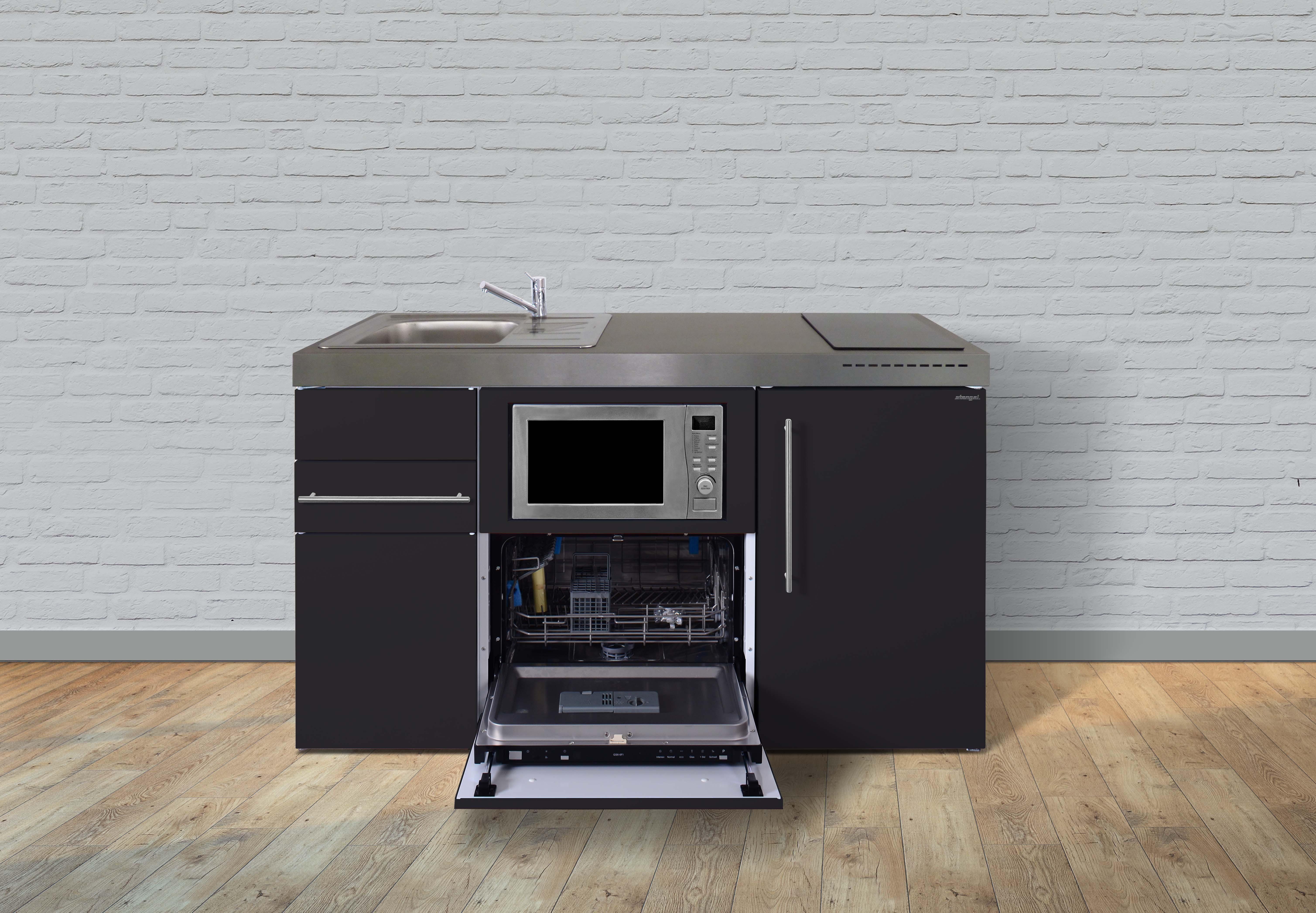 Miniküche Mit Kühlschrank Und Mikrowelle : Stengel metall miniküche premiumline mpgsm kühlschrank