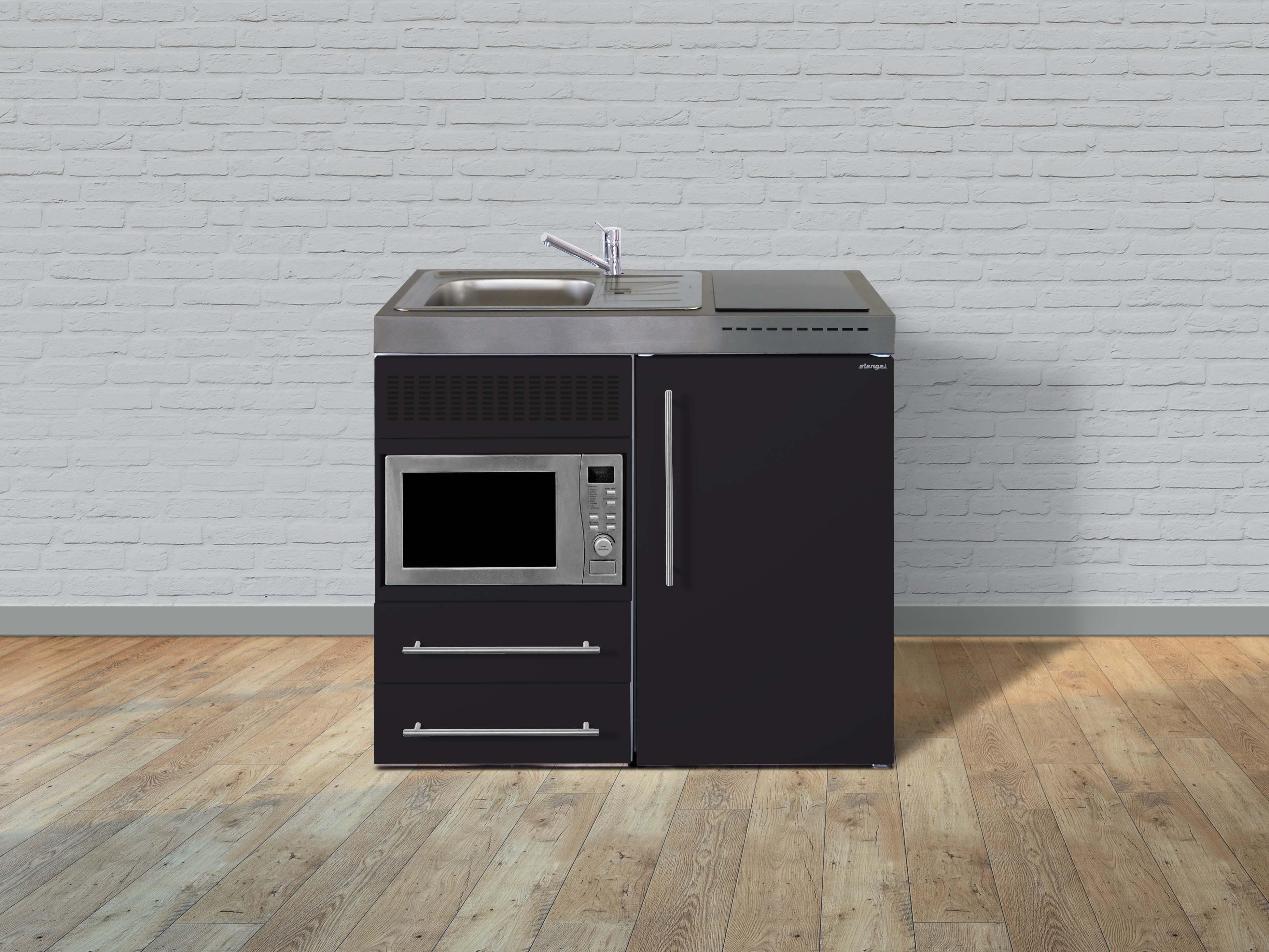 Miniküche Mit Kühlschrank 130 Cm : Stengel metall miniküche premiumline mpm kühlschrank