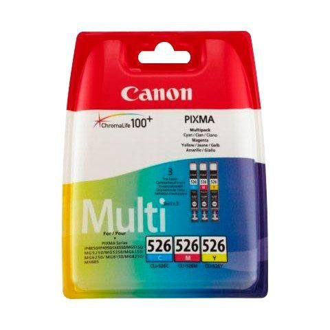 Canon »CLI-526 C/M/Y original Kombi-Pack« Tintenpatrone
