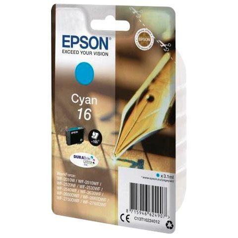 Epson »T1622, 16 Original Cyan C13T16224012« Tintenpatrone